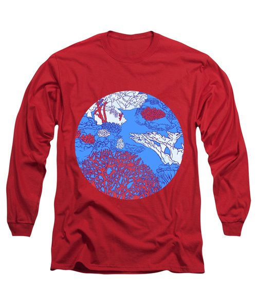 Coral Reef Long Sleeve T-Shirt by Evgenia Chuvardina