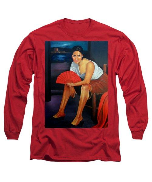 Cordoba De Noche  Long Sleeve T-Shirt by Manuel Sanchez