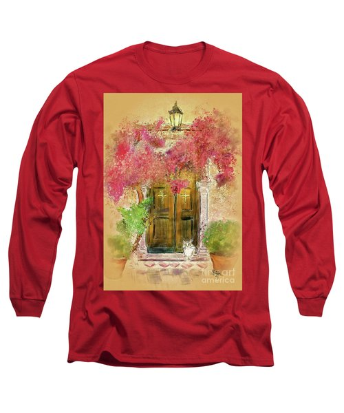 Long Sleeve T-Shirt featuring the digital art Corfu Kitty by Lois Bryan