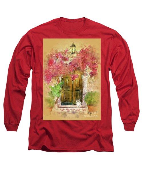 Long Sleeve T-Shirt featuring the digital art Corfu Kitty by Lois Bryan