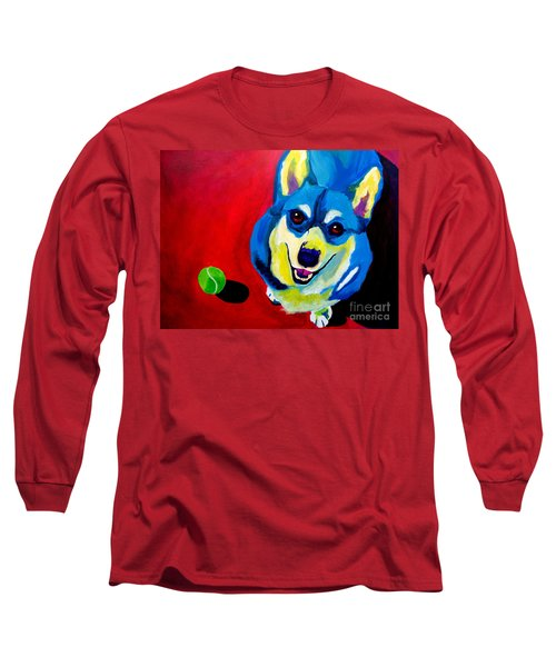 Corgi - Play Ball Long Sleeve T-Shirt