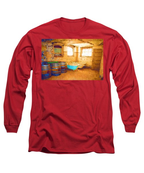 Long Sleeve T-Shirt featuring the digital art Cornered by Holly Ethan
