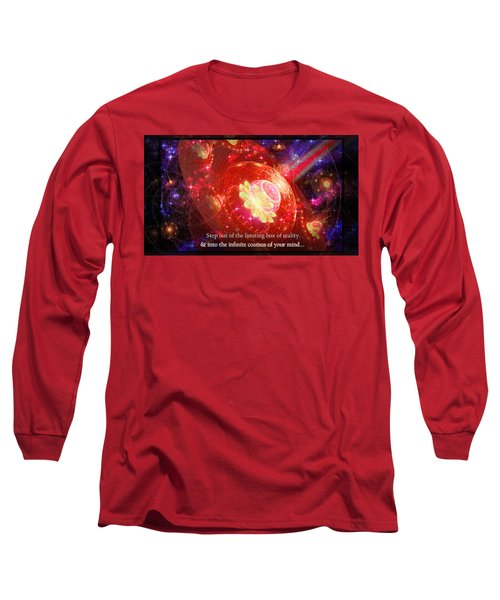 Long Sleeve T-Shirt featuring the mixed media Cosmic Inspiration God Source by Shawn Dall