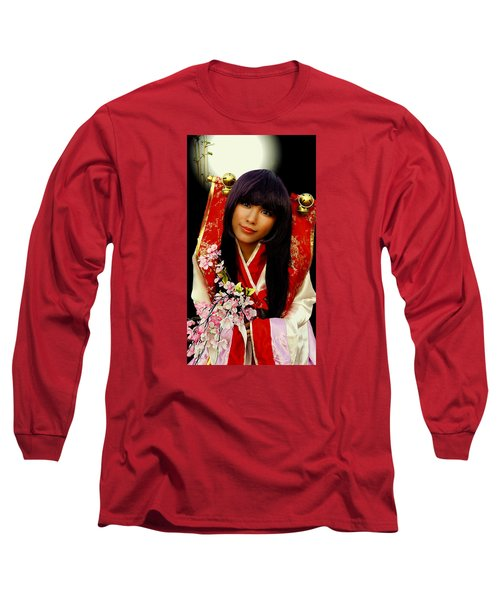 Cosplayer In Japanese Costume Long Sleeve T-Shirt
