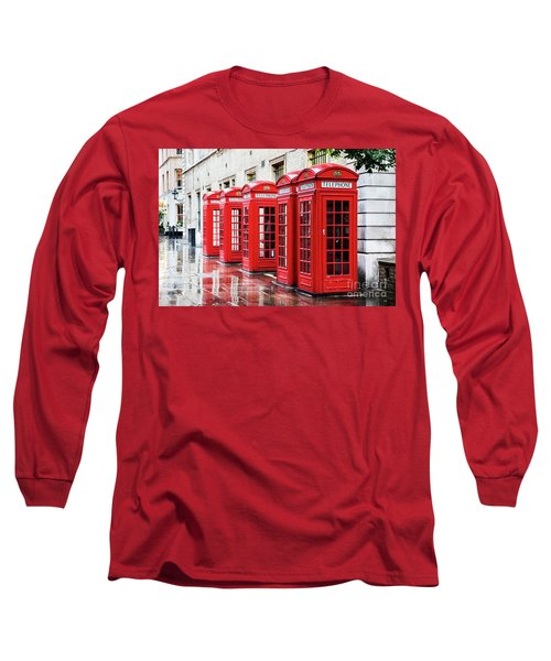 Covent Garden Phone Boxes Long Sleeve T-Shirt