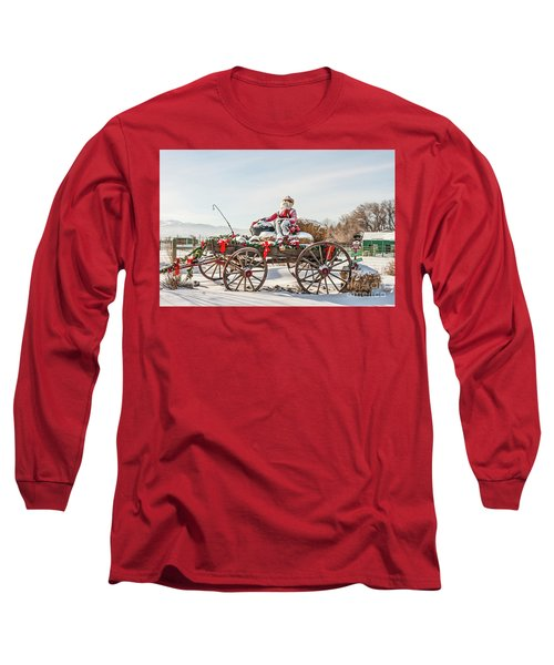 Cowboy Santa Taking A Quick Break Long Sleeve T-Shirt