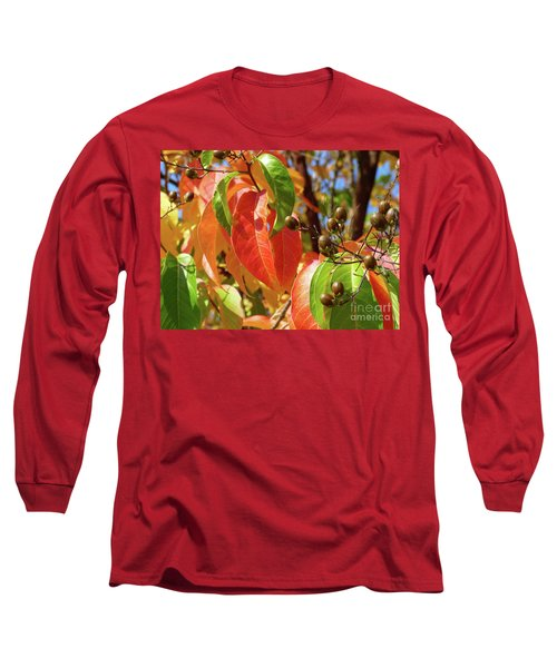 Crepe Myrtle Autumn Color Long Sleeve T-Shirt