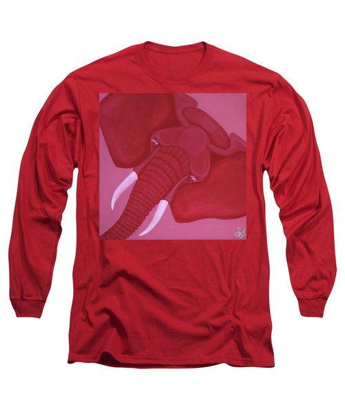 Crimson Elephant Long Sleeve T-Shirt