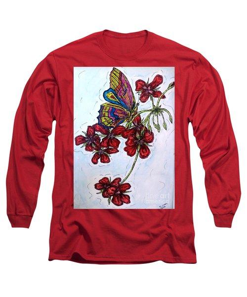 Crimson Fancy Long Sleeve T-Shirt by Kim Jones