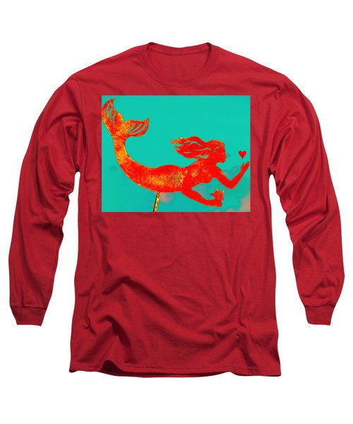 Crimson Mermaid Long Sleeve T-Shirt