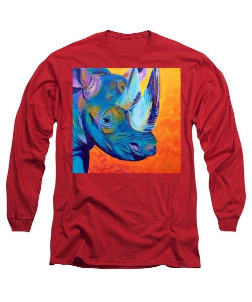 Critically Endangered Black Rhino Long Sleeve T-Shirt