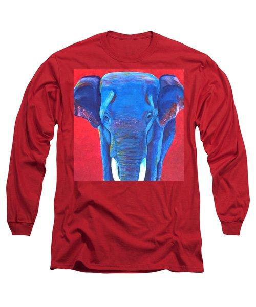 Critically Endangered Sumatran Elephant  Long Sleeve T-Shirt