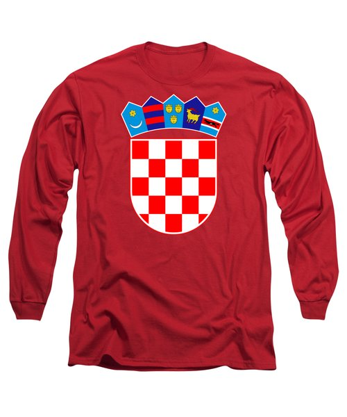 Croatia Coat Of Arms Long Sleeve T-Shirt by Movie Poster Prints