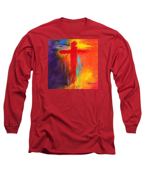 Long Sleeve T-Shirt featuring the painting Cross by Kume Bryant