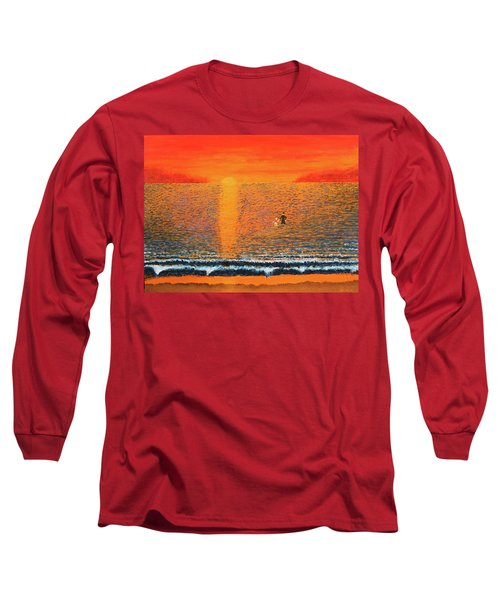 Crossing Over Long Sleeve T-Shirt by Thomas Blood