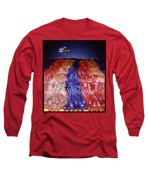 Cruising Above The Sea Of Worms Long Sleeve T-Shirt