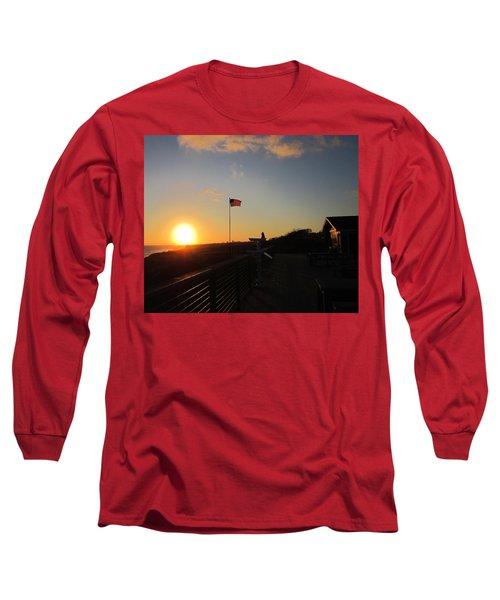 Crystal Cove 4th Of July Long Sleeve T-Shirt by Dan Twyman