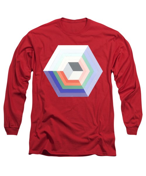 Cube Long Sleeve T-Shirt by Julio Lopez