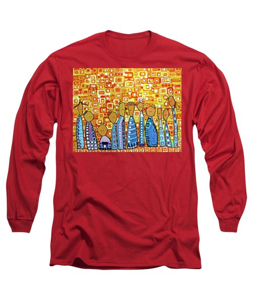 Long Sleeve T-Shirt featuring the painting cue by Donna Howard