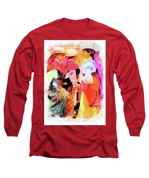 Long Sleeve T-Shirt featuring the photograph Cuenca Kids 884 by Al Bourassa