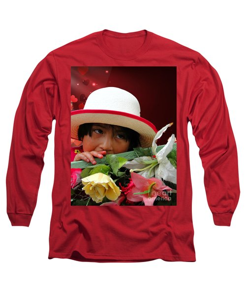 Long Sleeve T-Shirt featuring the photograph Cuenca Kids 887 by Al Bourassa
