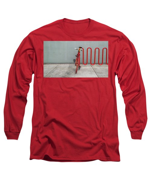 Curved Rack In Red - Urban Parking Stalls Long Sleeve T-Shirt