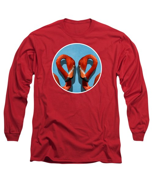 Curves, A Head - A Flamingo Portrait Long Sleeve T-Shirt