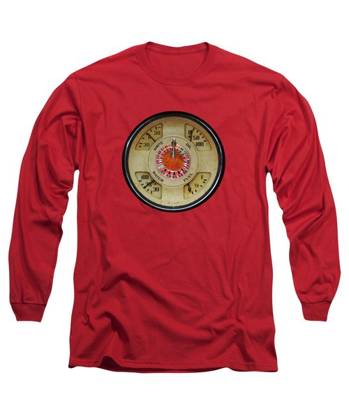 Custom Automobile Instrument With Lucky Roulette Wheel Design  Long Sleeve T-Shirt by Tom Conway