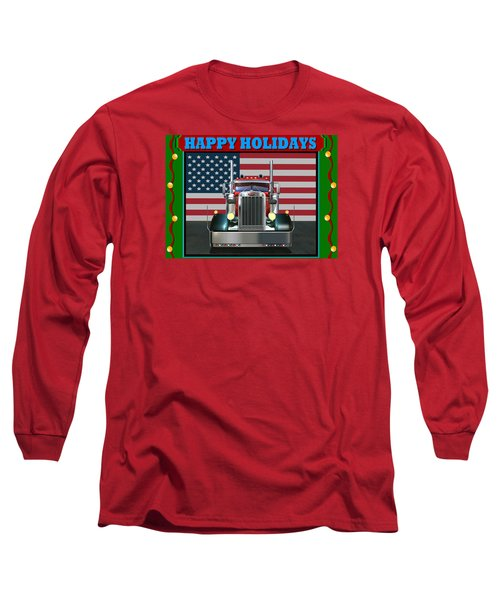 Custom Pete Happy Holidays Long Sleeve T-Shirt by Stuart Swartz