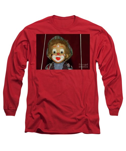 Long Sleeve T-Shirt featuring the photograph Cute Little Clown By Kaye Menner by Kaye Menner