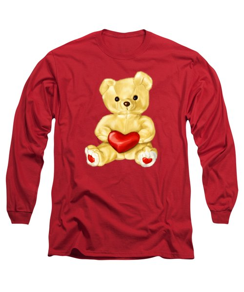 Cute Teddy Bear Hypnotist Long Sleeve T-Shirt by Boriana Giormova