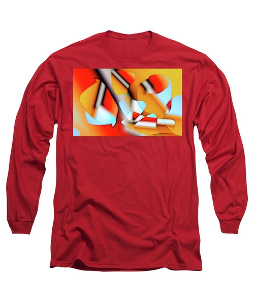 Long Sleeve T-Shirt featuring the digital art Cutouts by Ron Bissett