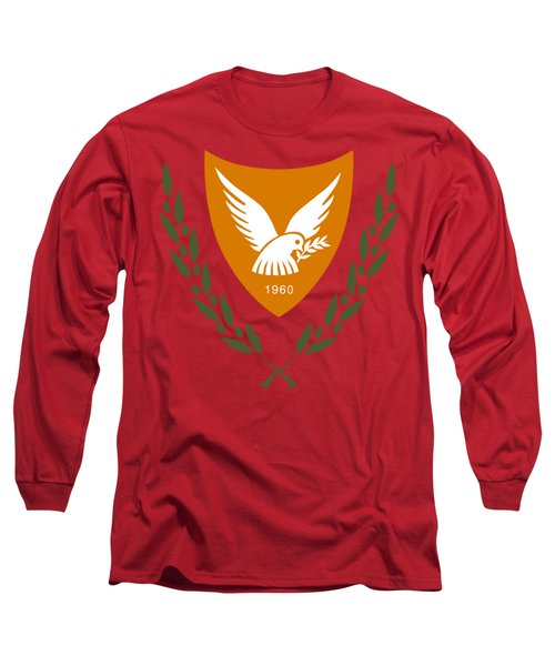 Cyprus Coat Of Arms Long Sleeve T-Shirt by Movie Poster Prints