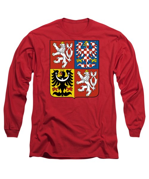 Czech Republic Coat Of Arms Long Sleeve T-Shirt by Movie Poster Prints