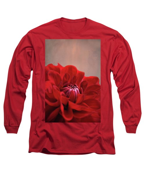 Long Sleeve T-Shirt featuring the photograph Dahlia Dalliance  by Marion Cullen