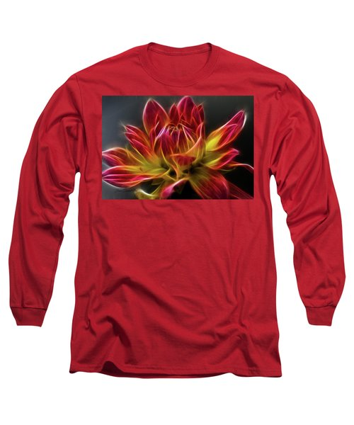 Dahlia Long Sleeve T-Shirt by Joann Copeland-Paul