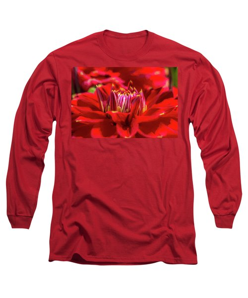 Dahlia Study 1 Painterly Long Sleeve T-Shirt
