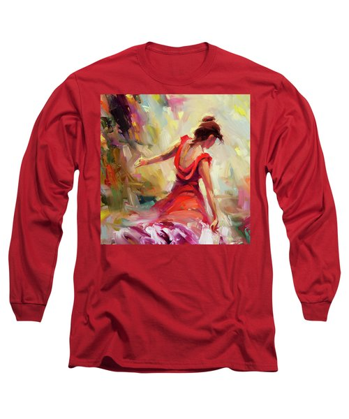 Long Sleeve T-Shirt featuring the painting Dancer by Steve Henderson