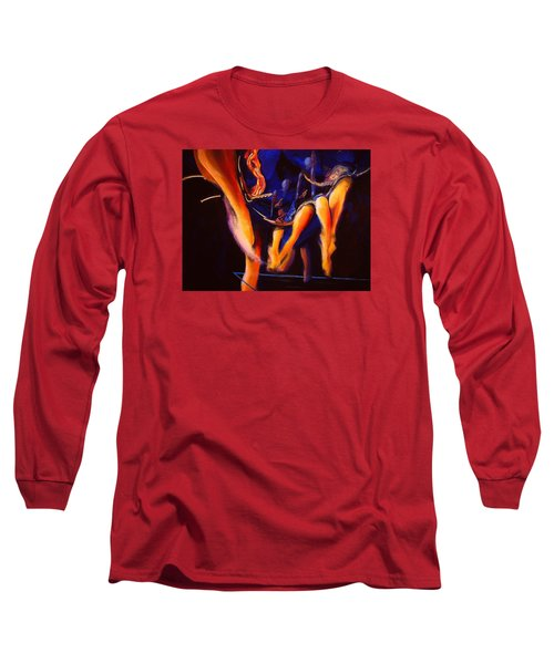 Long Sleeve T-Shirt featuring the painting Dancing by Georg Douglas