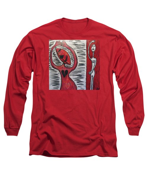 Dancing Until My Heart Breaks Long Sleeve T-Shirt by Mario Perron