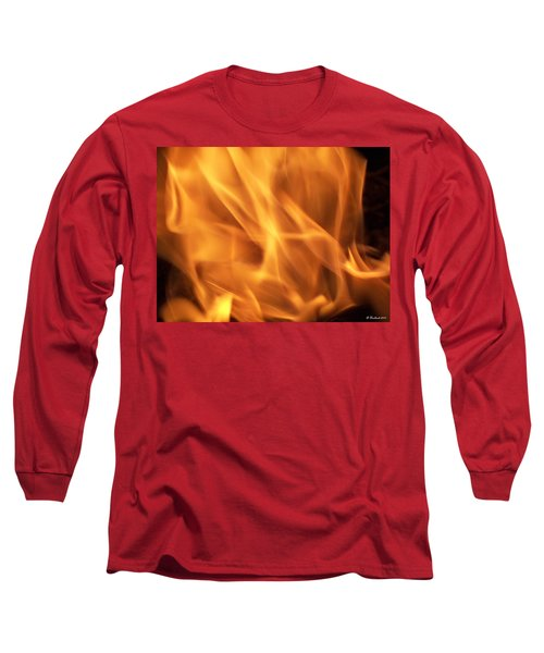Long Sleeve T-Shirt featuring the photograph Dancing With Fire by Betty Northcutt