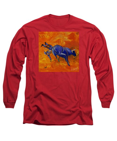 Long Sleeve T-Shirt featuring the painting Danny At The Rodeo by Janice Rae Pariza