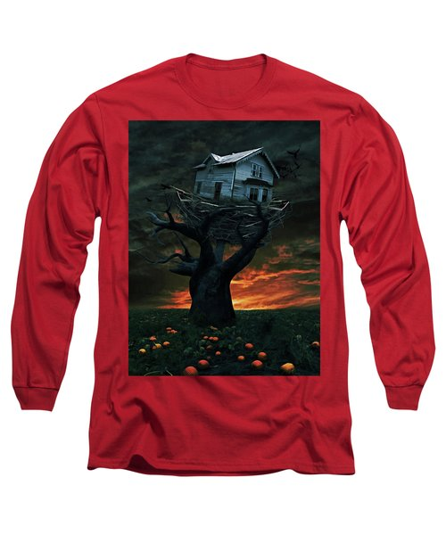 Dark Night Long Sleeve T-Shirt by Mihaela Pater