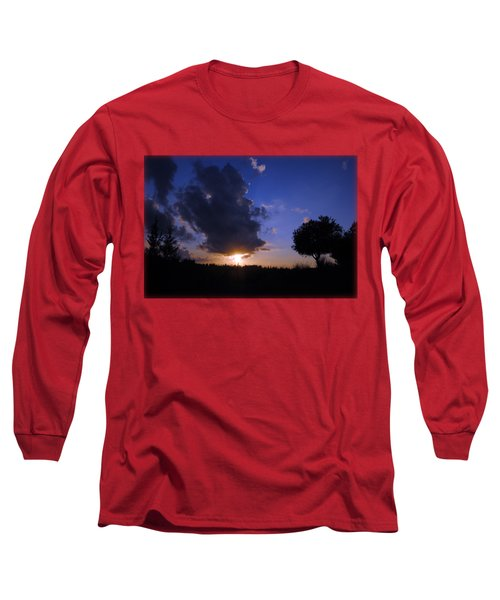 Dark Sunset T-shirt 2 Long Sleeve T-Shirt by Isam Awad