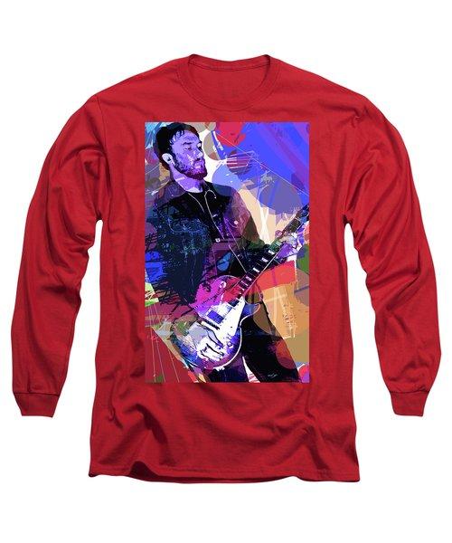 Darren Glover Les Paul Gibson Long Sleeve T-Shirt by David Lloyd Glover
