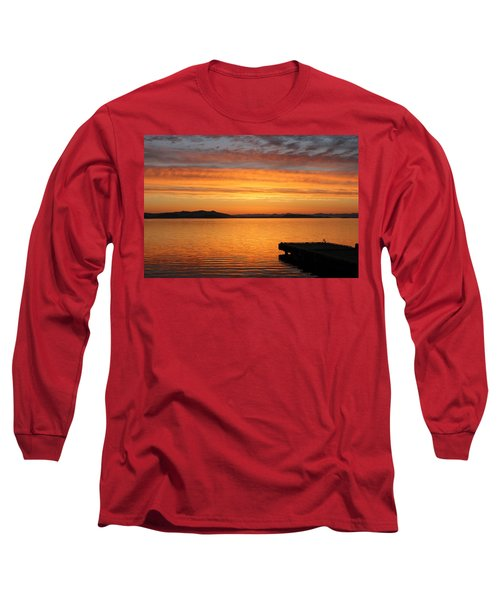 Dawn In The Sky At Dusavik Long Sleeve T-Shirt