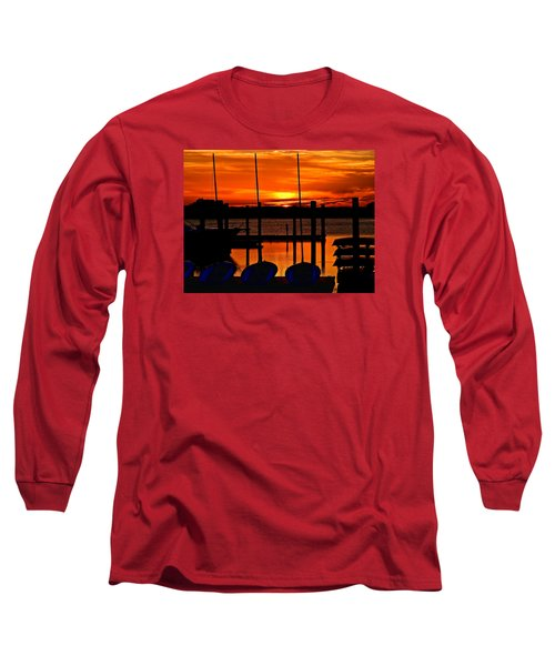 Long Sleeve T-Shirt featuring the photograph Day Is Done by Laura Ragland