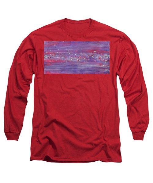 Daydream In Purple Long Sleeve T-Shirt