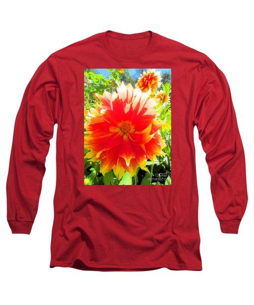Dazzling Dahlia Long Sleeve T-Shirt by Elizabeth Dow