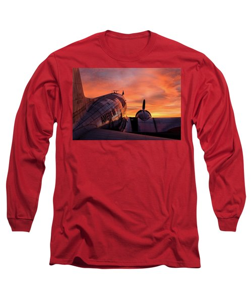 Dc-3 Dawn - 2017 Christopher Buff, Www.aviationbuff.com Long Sleeve T-Shirt